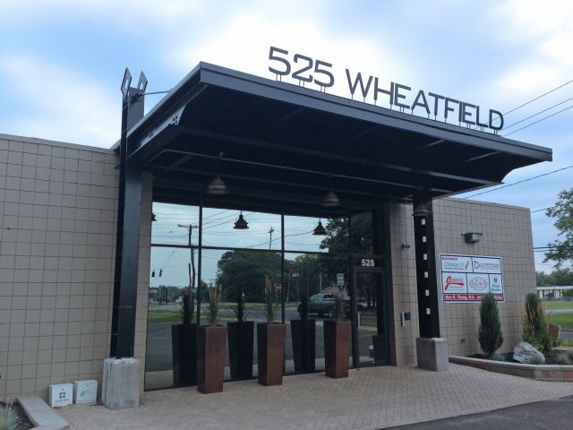 New Canopy Entrance At Existing Building Gt Commercial